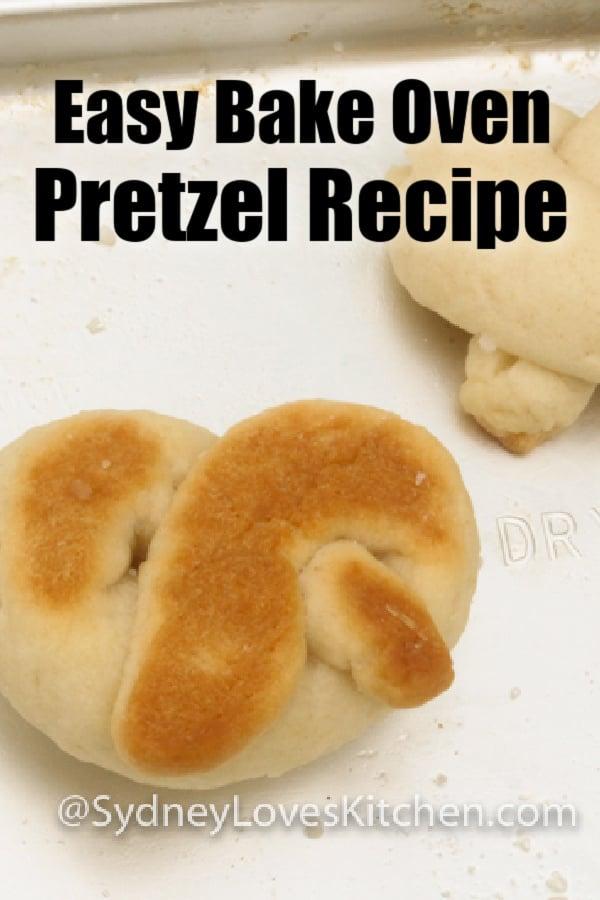 pretzel close up on a cookie sheet