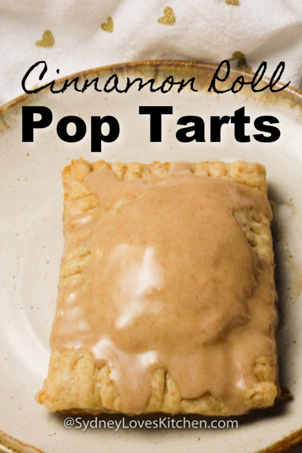 Homemade pop tart with frosting on a plate