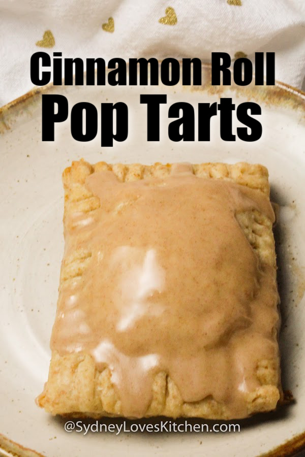 Homemade pop tart on a plate.